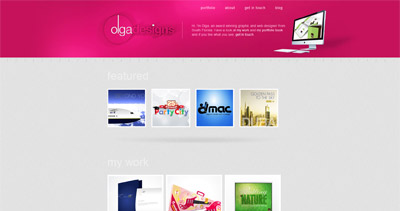Olga Designs Website Screenshot