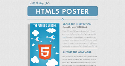 HTML5 Poster Website Screenshot