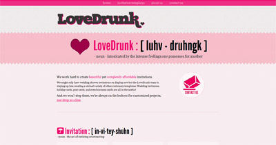 LoveDrunk Website Screenshot