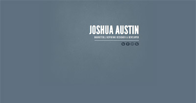 Joshua Austin Website Screenshot