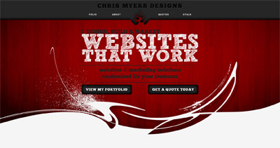 Chris Myers Designs Website Screenshot