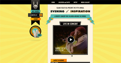 Evening of Inspiration 2010 Website Screenshot