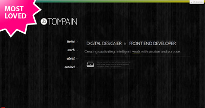 Tom Pain Website Screenshot