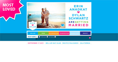 Erin ♥ Dylan Website Screenshot