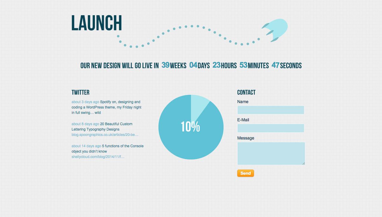 Launch Website Screenshot