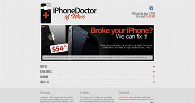 iPhone Doctor Website Screenshot