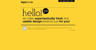 Supertastico Website Screenshot