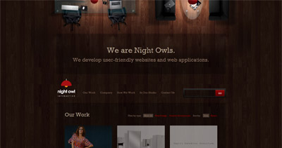 Night Owl Interactive Website Screenshot