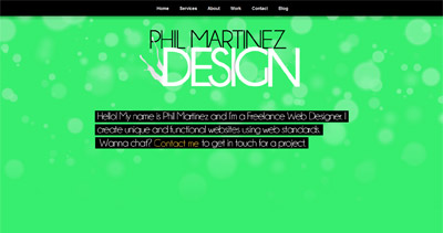 Phil Martinez Website Screenshot