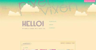 Pixel Vixen Website Screenshot