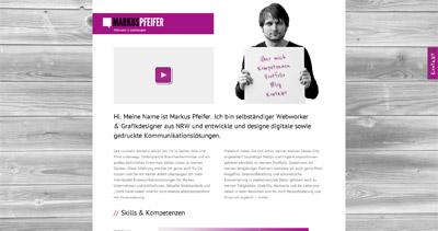 Markus Pfeifer Website Screenshot