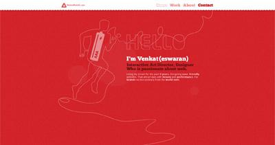 Venkat K Website Screenshot