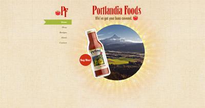 Portlandia Foods Website Screenshot