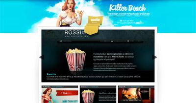 Killer Beach Website Screenshot