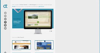 Andrew Tebbott Website Screenshot