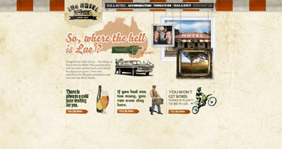 Lue Hotel Website Screenshot
