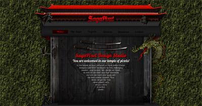 SagaPixel Website Screenshot