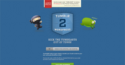 tumblr2wp Website Screenshot