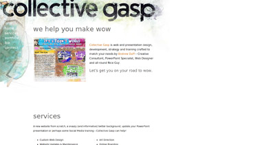 Collective Gasp Website Screenshot