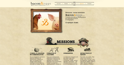 Bacon&eggs Website Screenshot