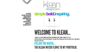 klean Website Screenshot