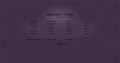 Radoslav Holan Website Screenshot