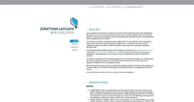 Jonathan Lahijani Website Screenshot