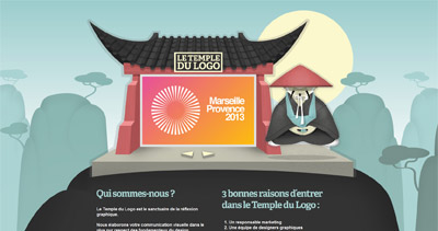 Temple du Logo Website Screenshot