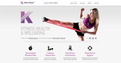 Kiera Lacey Website Screenshot