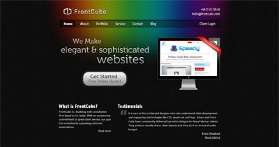 FrontCube Website Screenshot