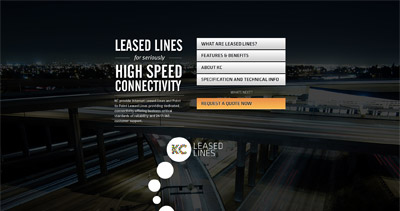 Leased Lines Website Screenshot