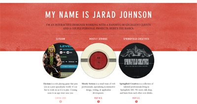 Jarad Johnson Website Screenshot