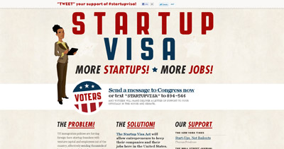 Startup Visa Website Screenshot