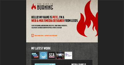 The City Is Burning Website Screenshot