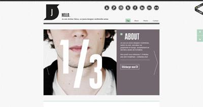 Jérôme Détraz Website Screenshot
