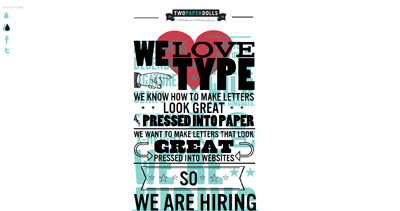Two Paperdolls is hiring Website Screenshot