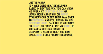 Justin Parra Website Screenshot