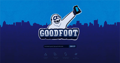 Goodfoot Website Screenshot