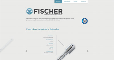 Fischer Website Screenshot