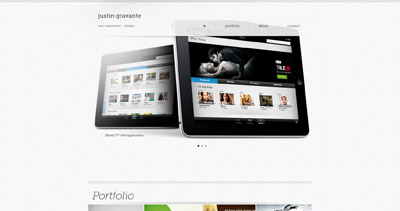 JustinGravante Website Screenshot