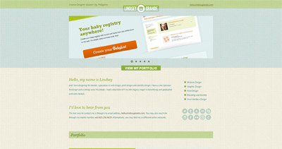 Lindsey Grande Website Screenshot