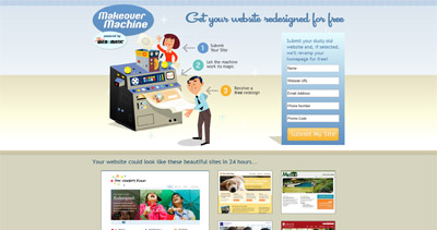 Makeover Machine Website Screenshot