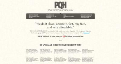 PQH Website Screenshot