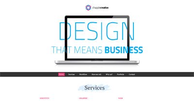 Chapple Creative Website Screenshot