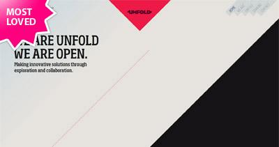Unfold Website Screenshot