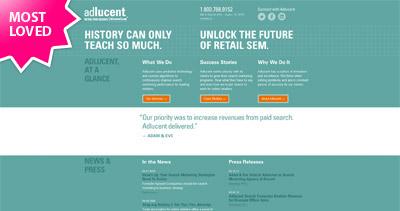 Adlucent Website Screenshot