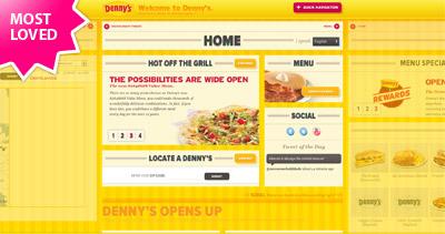 Denny's Restaurants Website Screenshot