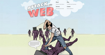 Attack of the web Website Screenshot