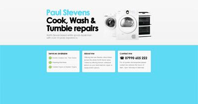 Paul Stevens Website Screenshot