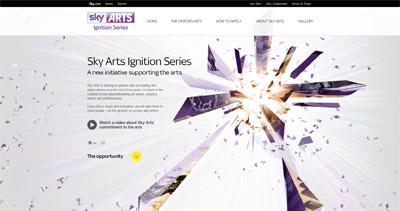 Sky Arts Ignition Series Website Screenshot